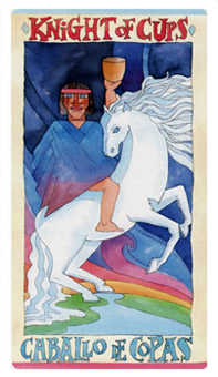 Knight of Ghosts Tarot Card - Napo Tarot Deck