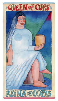 Queen of Bowls Tarot Card - Napo Tarot Deck