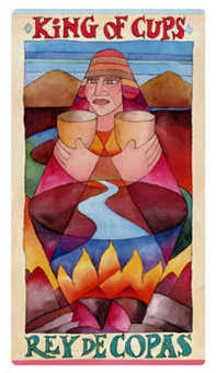 King of Cauldrons Tarot Card - Napo Tarot Deck