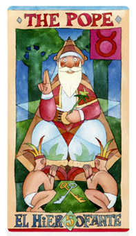 The Pope Tarot Card - Napo Tarot Deck