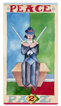 Two of Swords Tarot Card - Napo Tarot Deck