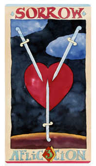 Three of Swords Tarot Card - Napo Tarot Deck