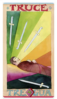 Four of Arrows Tarot Card - Napo Tarot Deck
