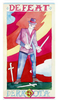 Five of Wind Tarot Card - Napo Tarot Deck