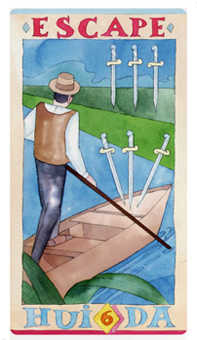Six of Arrows Tarot Card - Napo Tarot Deck