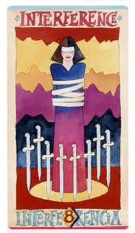 Eight of Arrows Tarot Card - Napo Tarot Deck