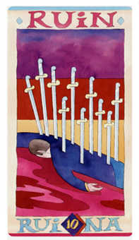 Ten of Arrows Tarot Card - Napo Tarot Deck