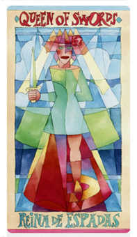 Queen of Swords Tarot Card - Napo Tarot Deck