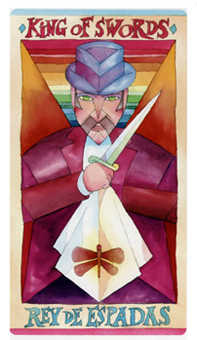 King of Spades Tarot Card - Napo Tarot Deck