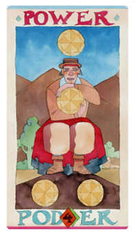 Four of Buffalo Tarot Card - Napo Tarot Deck