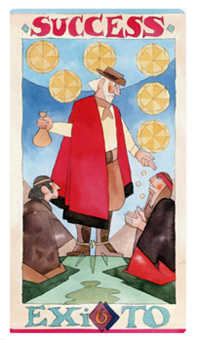 Six of Stones Tarot Card - Napo Tarot Deck