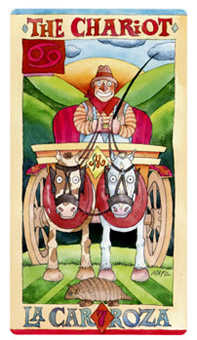 The Chariot Tarot Card - Napo Tarot Deck