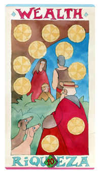 Ten of Coins Tarot Card - Napo Tarot Deck