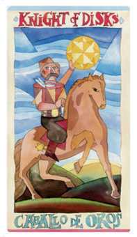 Knight of Buffalo Tarot Card - Napo Tarot Deck