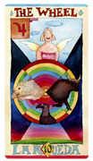 The Wheel Tarot card in Napo Tarot deck