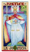 Justice Tarot card in Napo Tarot Tarot deck