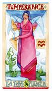 Temperance Tarot card in Napo Tarot Tarot deck