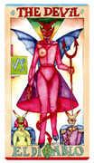The Devil Tarot card in Napo Tarot Tarot deck