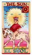The Sun Tarot card in Napo Tarot deck