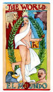 The World Tarot card in Napo Tarot deck