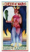 Queen of Wands Tarot card in Napo Tarot Tarot deck