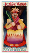 King of Wands Tarot card in Napo Tarot Tarot deck