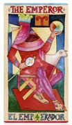 The Emperor Tarot card in Napo Tarot Tarot deck