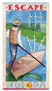 Six of Swords Tarot card in Napo Tarot Tarot deck
