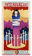Eight of Swords Tarot card in Napo Tarot Tarot deck