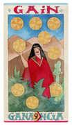 Nine of Discs Tarot card in Napo Tarot Tarot deck