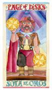 Page of Discs Tarot card in Napo Tarot Tarot deck