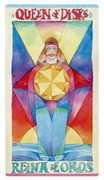 Queen of Discs Tarot card in Napo Tarot deck