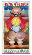 King of Discs Tarot card in Napo Tarot Tarot deck