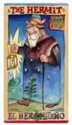 The Hermit Tarot card in Napo Tarot deck