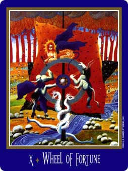 The Wheel of Fortune Tarot Card - New Century Tarot Deck