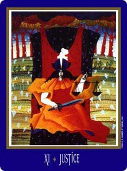 Justice Tarot Card - New Century Tarot Deck