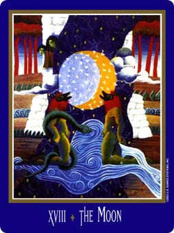 The Moon Tarot Card - New Century Tarot Deck