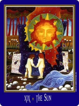 The Sun Tarot Card - New Century Tarot Deck