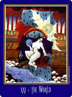 The World Tarot Card - New Century Tarot Deck