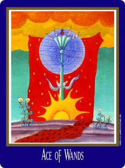 Ace of Sceptres Tarot Card - New Century Tarot Deck