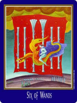 Six of Rods Tarot Card - New Century Tarot Deck