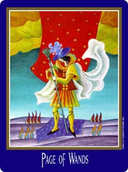 Valet of Batons Tarot Card - New Century Tarot Deck