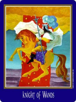 Knight of Rods Tarot Card - New Century Tarot Deck