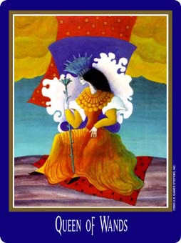 Queen of Rods Tarot Card - New Century Tarot Deck