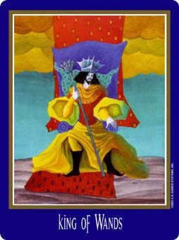 King of Staves Tarot Card - New Century Tarot Deck