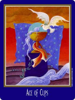 Ace of Cups Tarot Card - New Century Tarot Deck