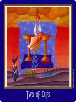 Two of Hearts Tarot Card - New Century Tarot Deck