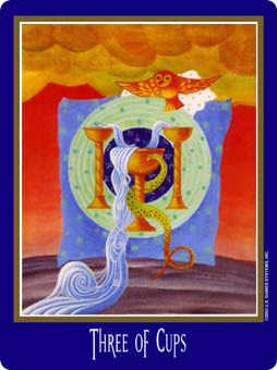 Three of Ghosts Tarot Card - New Century Tarot Deck