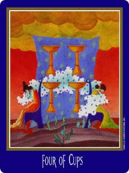 Four of Bowls Tarot Card - New Century Tarot Deck