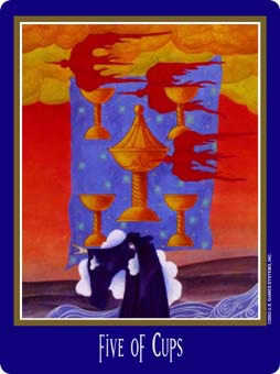 Five of Bowls Tarot Card - New Century Tarot Deck